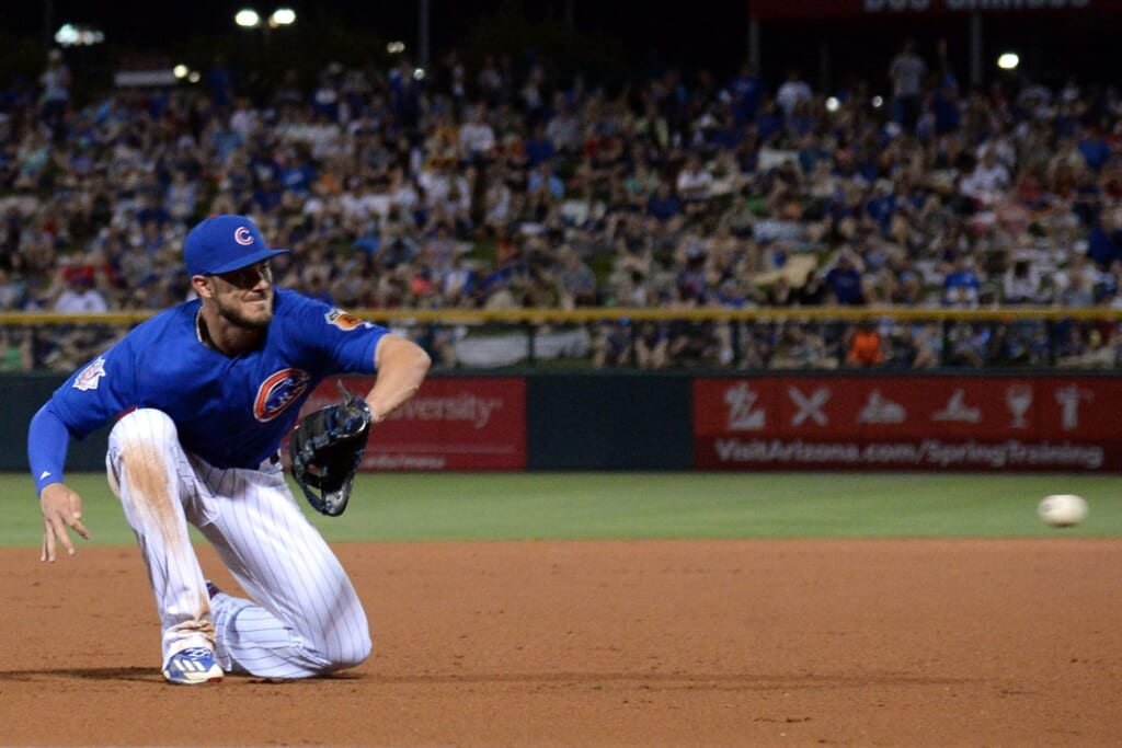 Kris Bryant of the Chicago Cubs making it sexy at third base