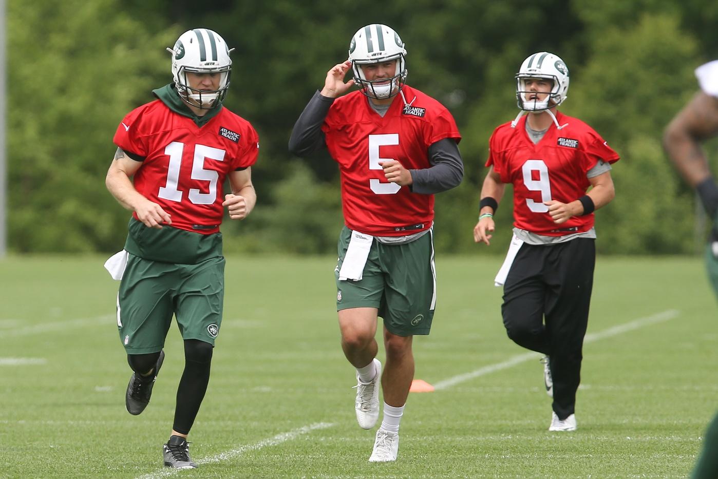 Jets quarterbacks Josh McCown Bryce Petty Christian Hackenberg New York Jets NFL training camp