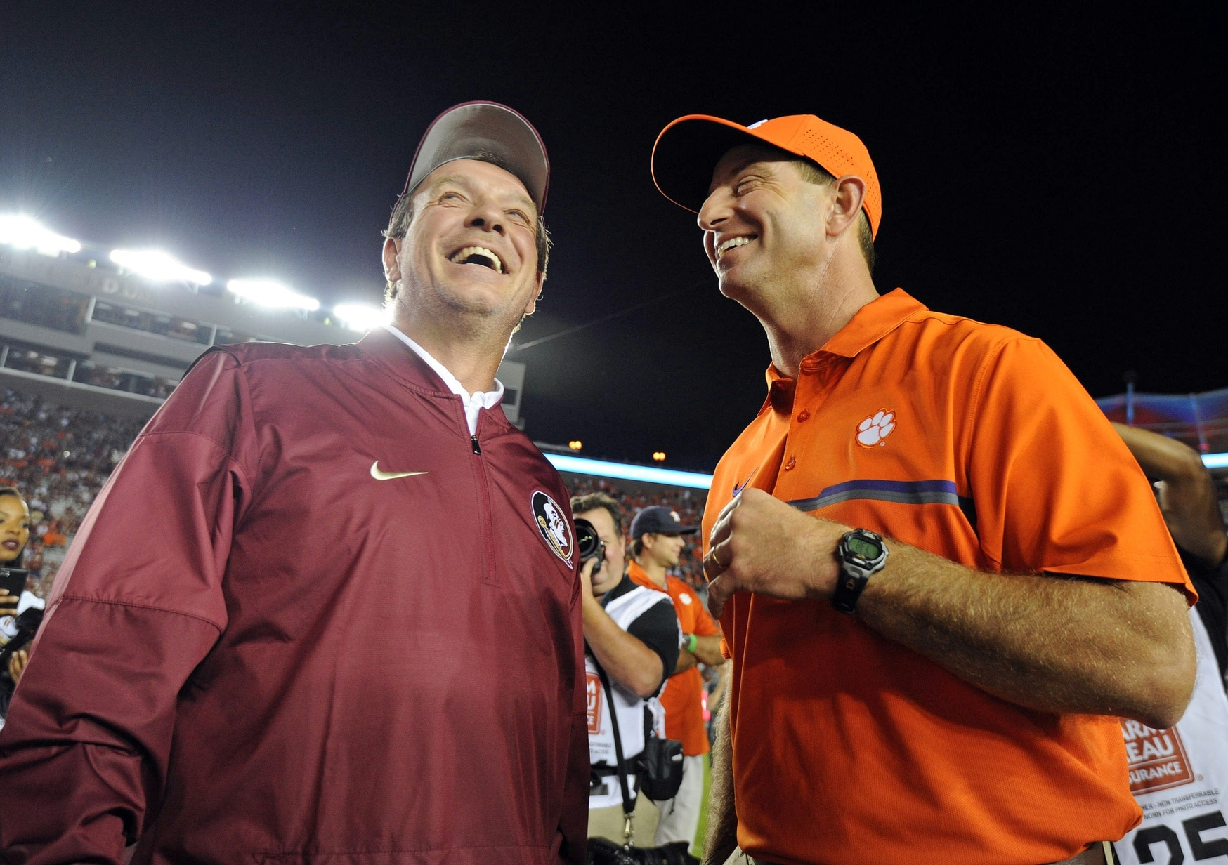 Dabo Swinney, Jimbo Fisher, Florida State Seminoles, Clemson Tigers, 2017 college football schedule