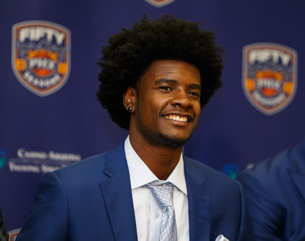 Look for Phoenix suns rookie Josh Jackson to dominate as a rookie.