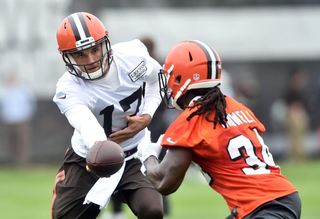 Brock Osweiler Isaiah Crowell Cleveland Browns NFL OTAs