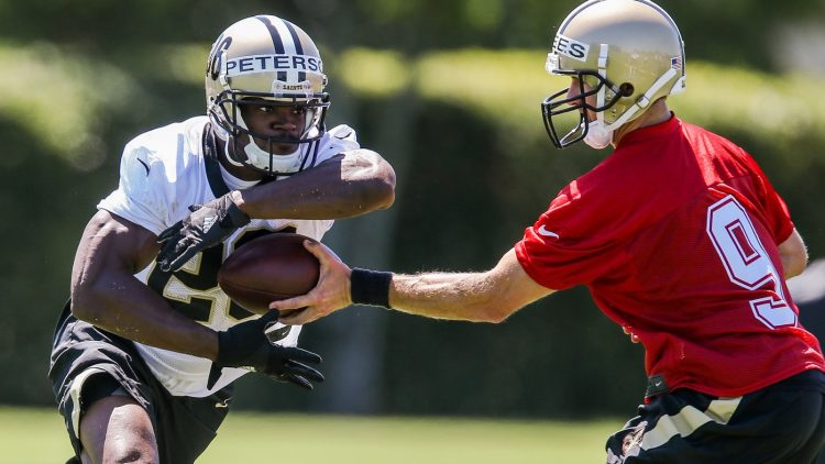 Adrian Peterson looks to rebuild his career with the Saints.