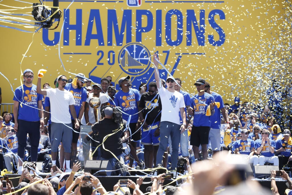 The Golden State Warriors foot the entire $4 million bill for their championship parade.