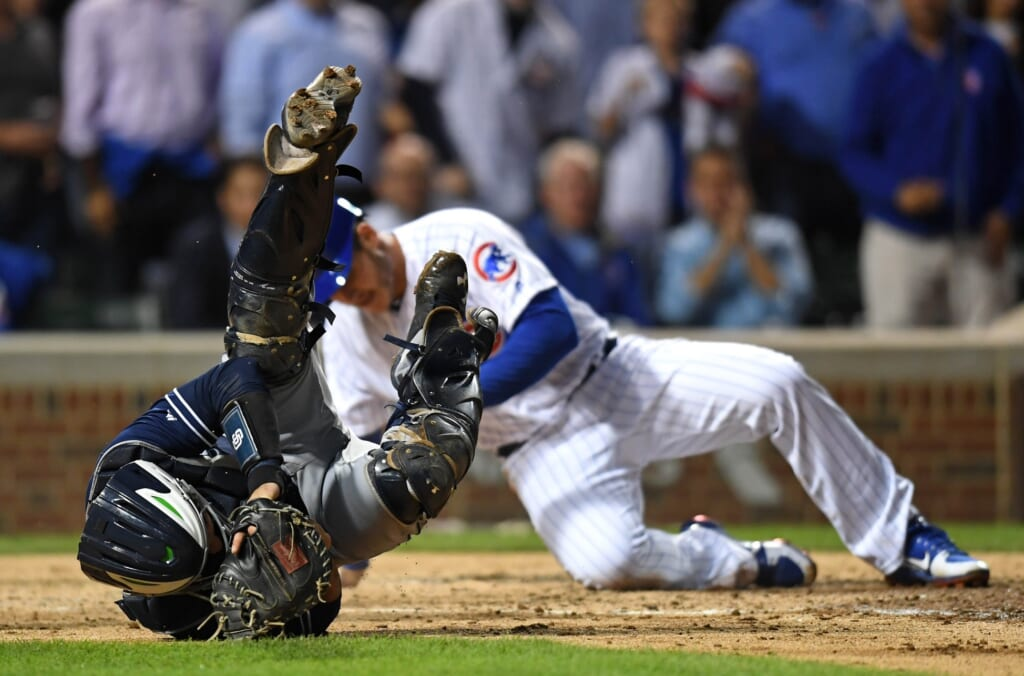 MLB is reviewing Anthony Rizzo home plate collision.