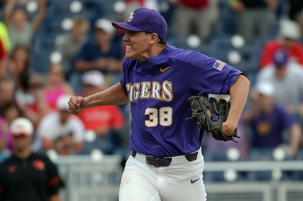 LSU closer Zach Hess embracing his Wild Thing persona