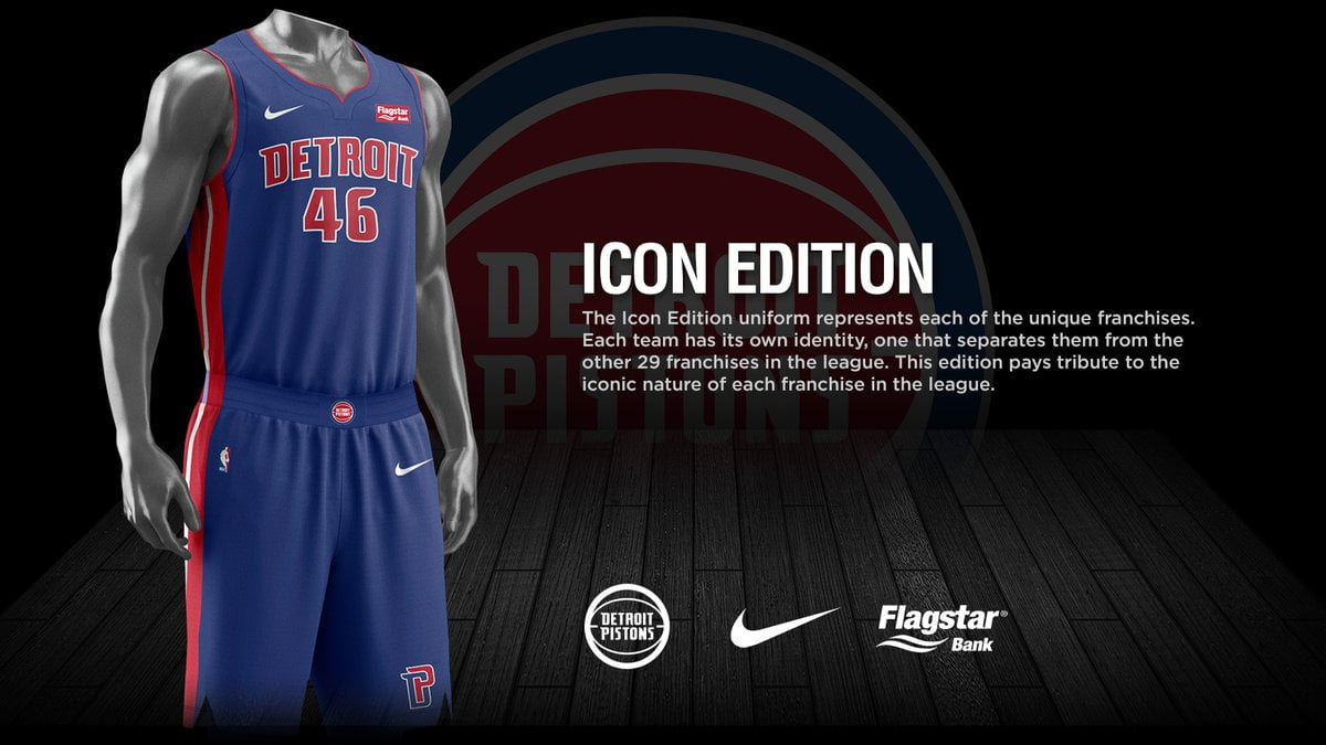super popular ad446 7a940 Check out Pistons' new Nike uniforms with advertisements