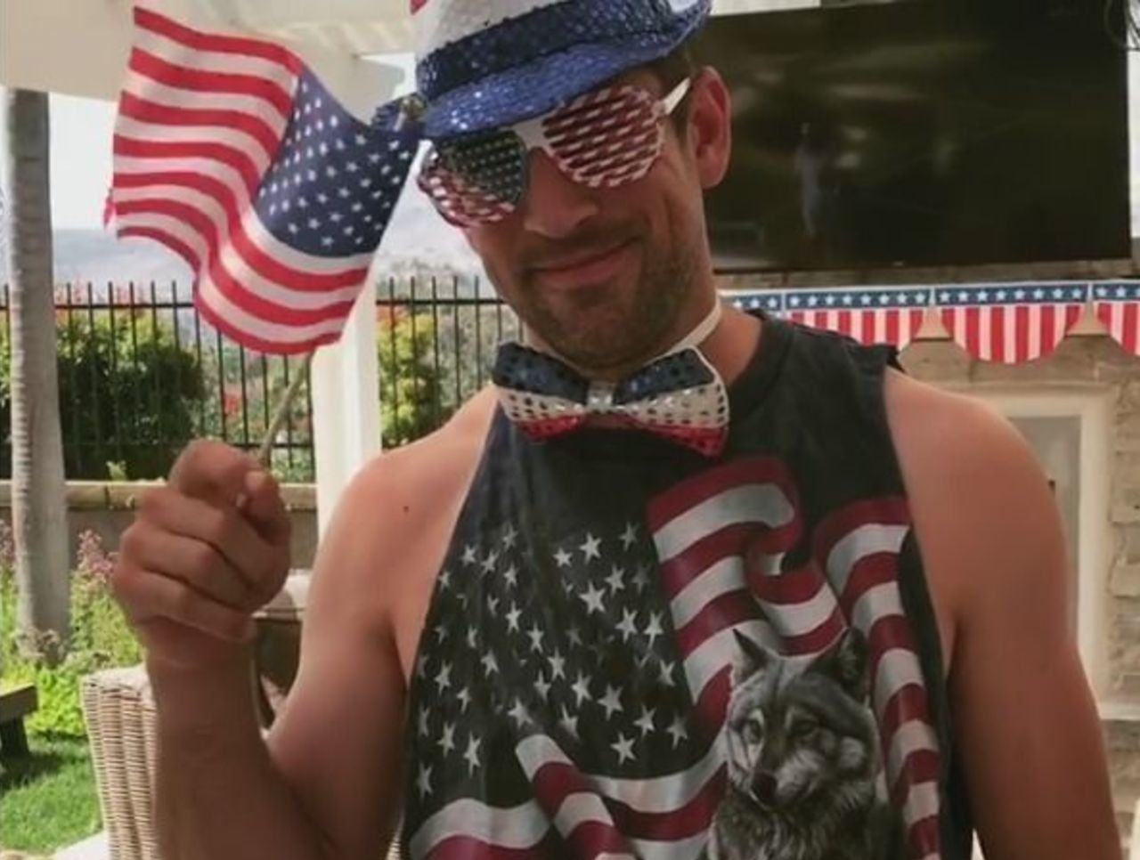 Aaron Rodgers posting this video to Instagram on the 4th is amazing.