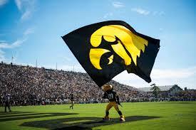 Iowa Hawkeyes flag Bobby Elliott