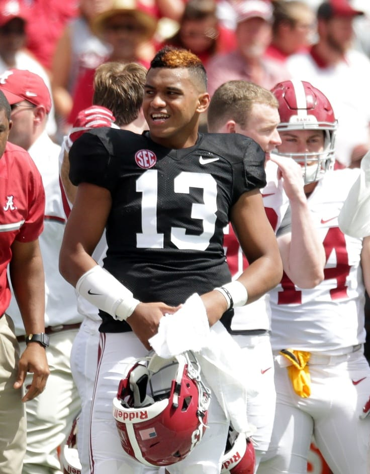 Tua Tagovailoa Alabama spring game
