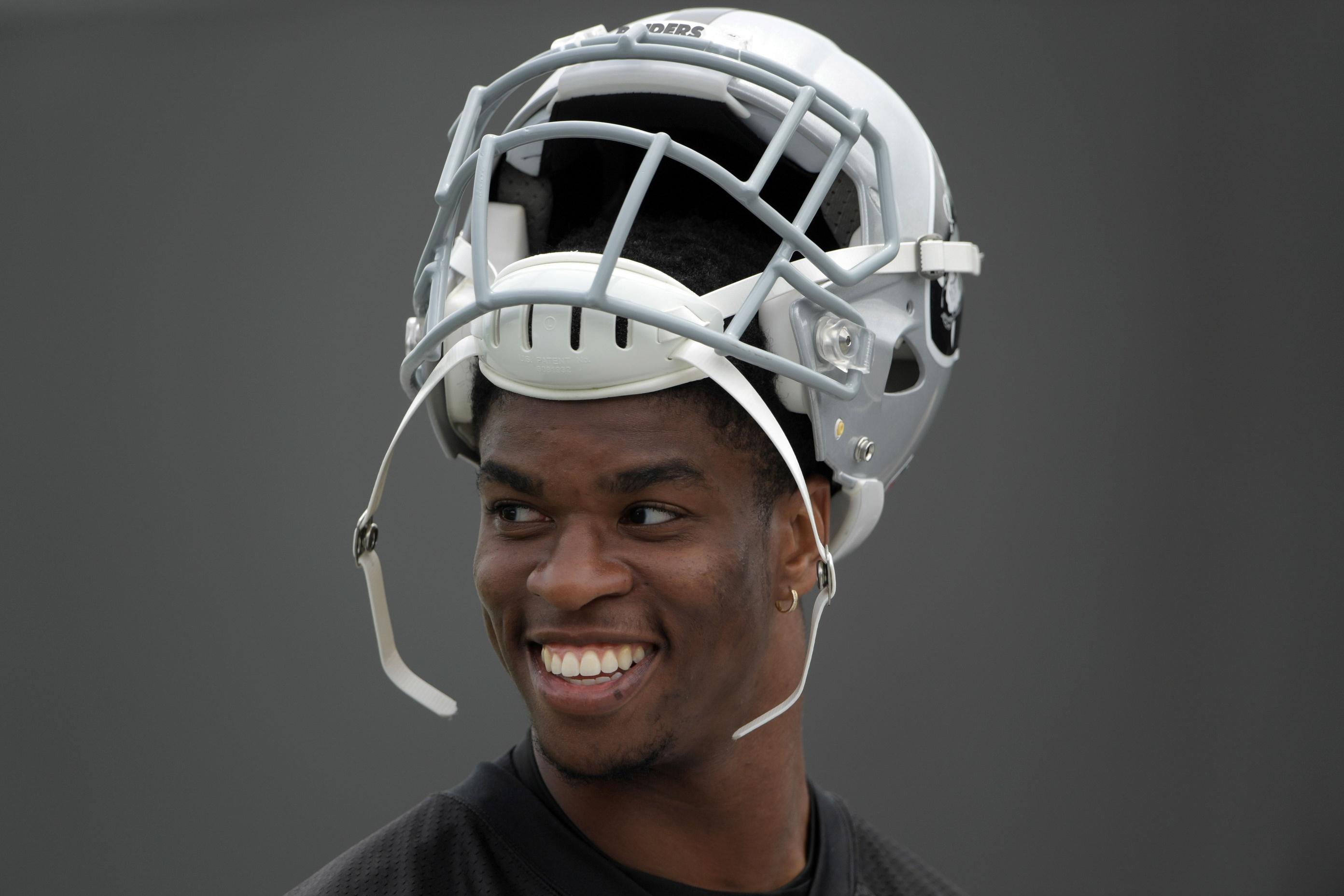 Obi Melifonwu Oakland Raiders practice