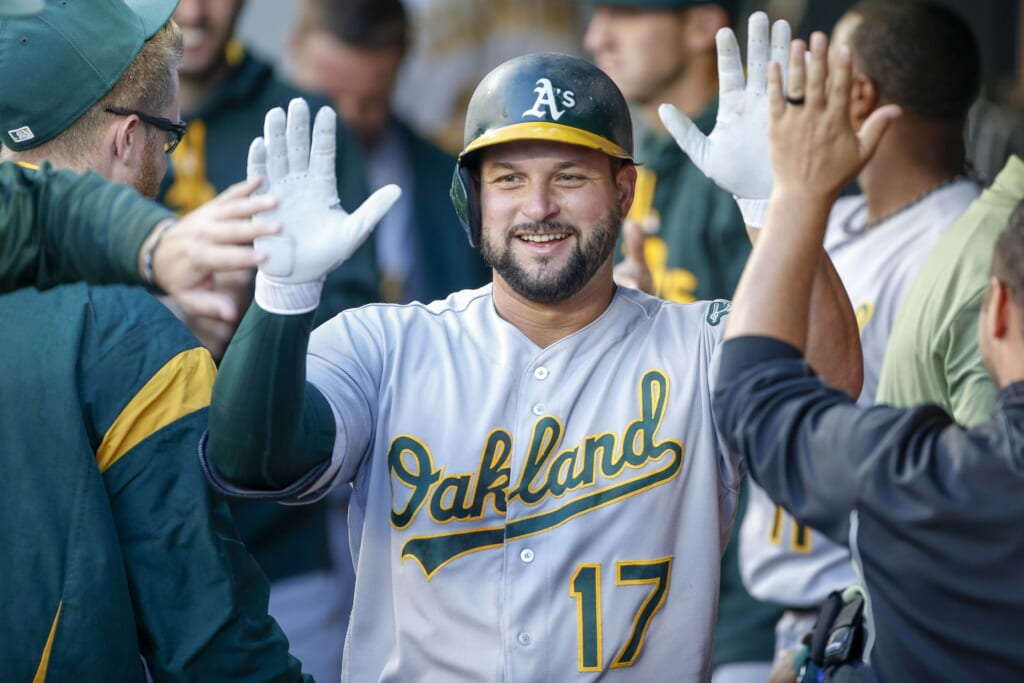 The Oakland Athletics have put All-Star first baseman Yonder Alonso on the trade block.