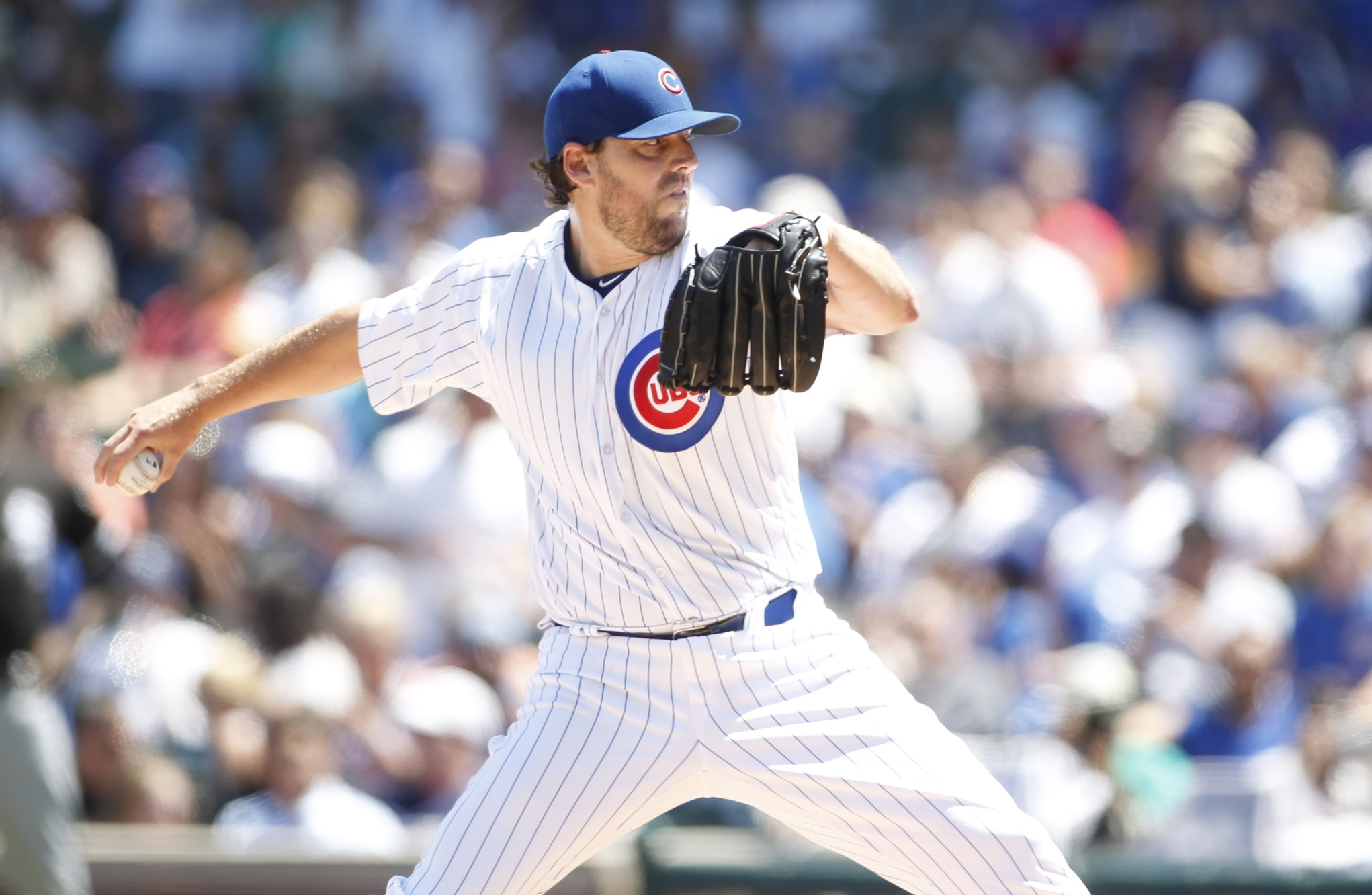Cubs starter John Lackey hits four batters in his start Tuesday.