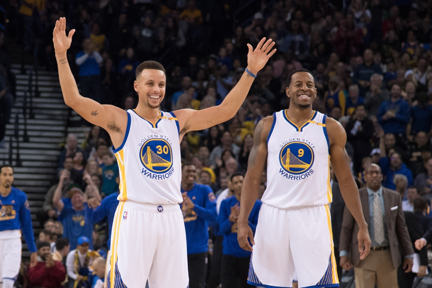 Warriors made quick work during free agency, re-signing both Stephen Curry and Andre Iguodala.