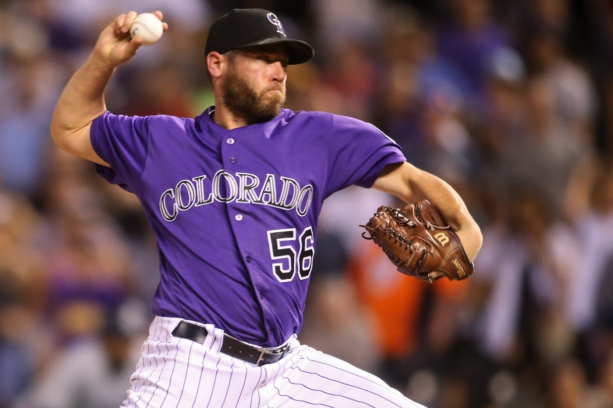Rockies closer Greg Holland is out after injuring his finger in a kitchen accident