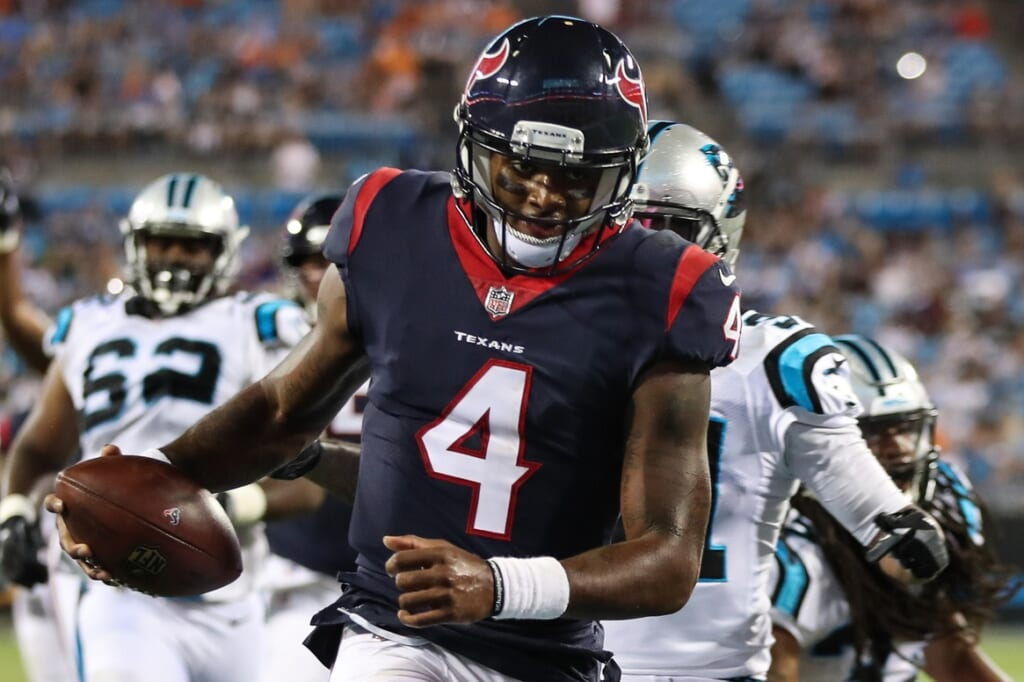 Texans rookie QB Deshaun Watson looks strong in NFL preseason debut