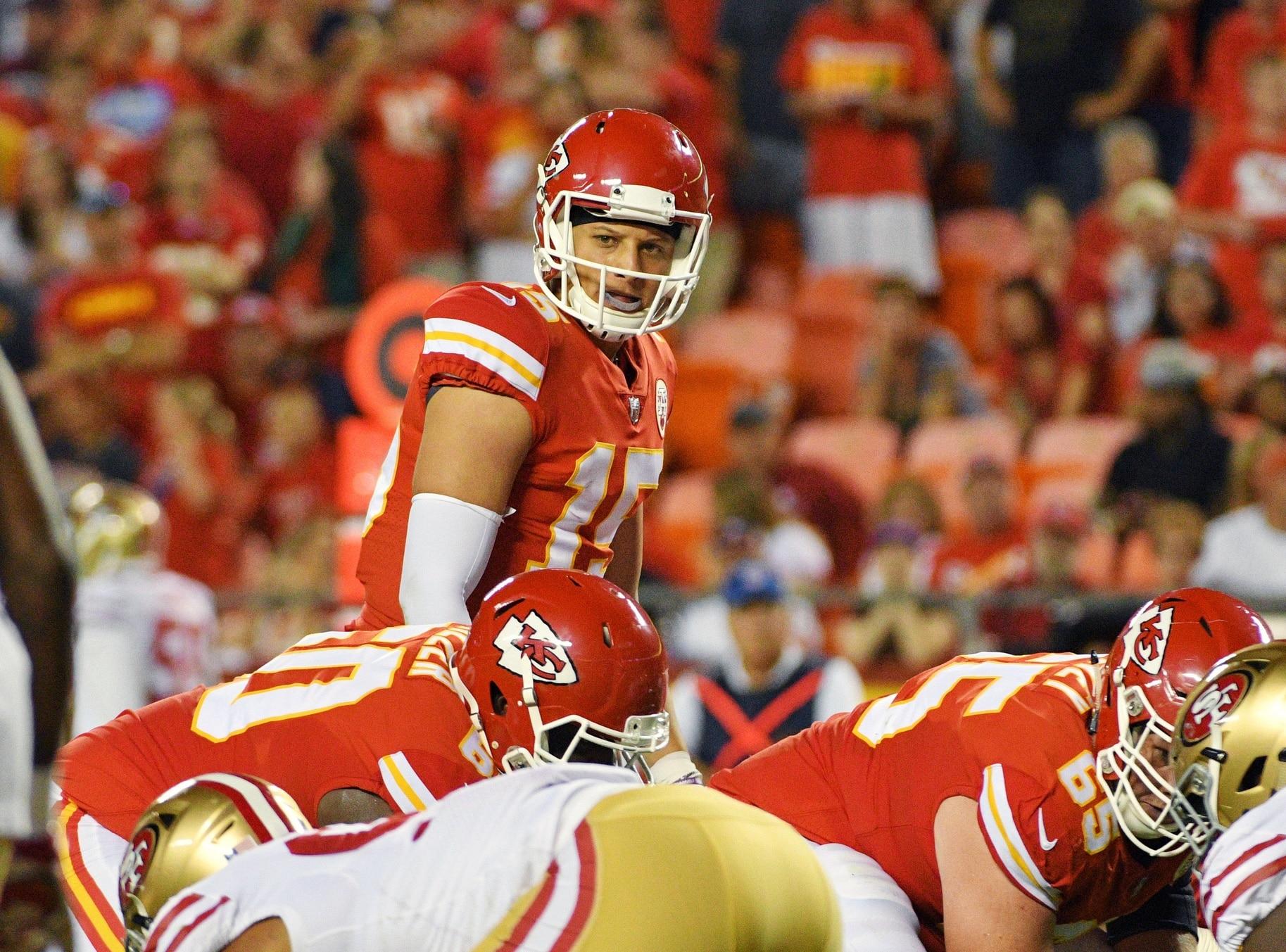 NFL star in the making, Kansas City Chiefs quarterback Patrick Mahomes