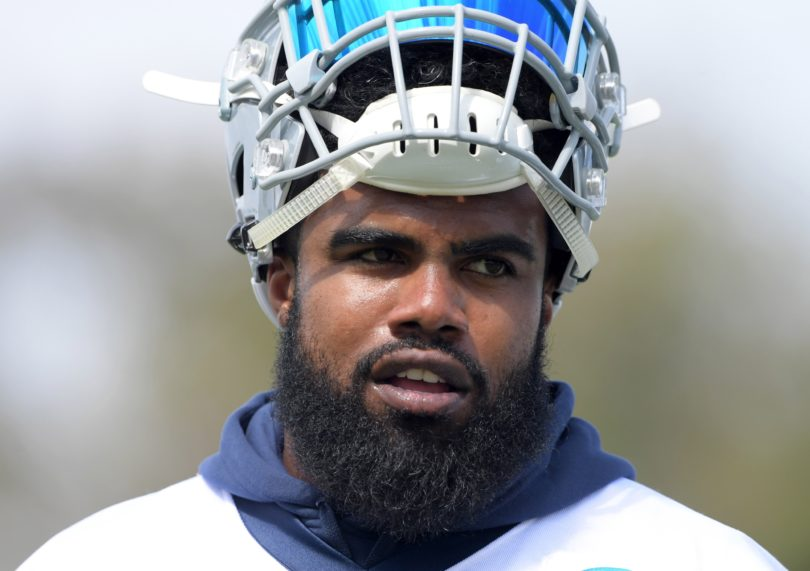Ezekiel Elliott of the Dallas Cowboys