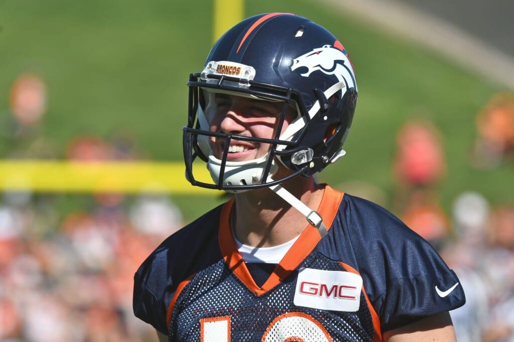 Denver Broncos quarterback Paxton Lynch