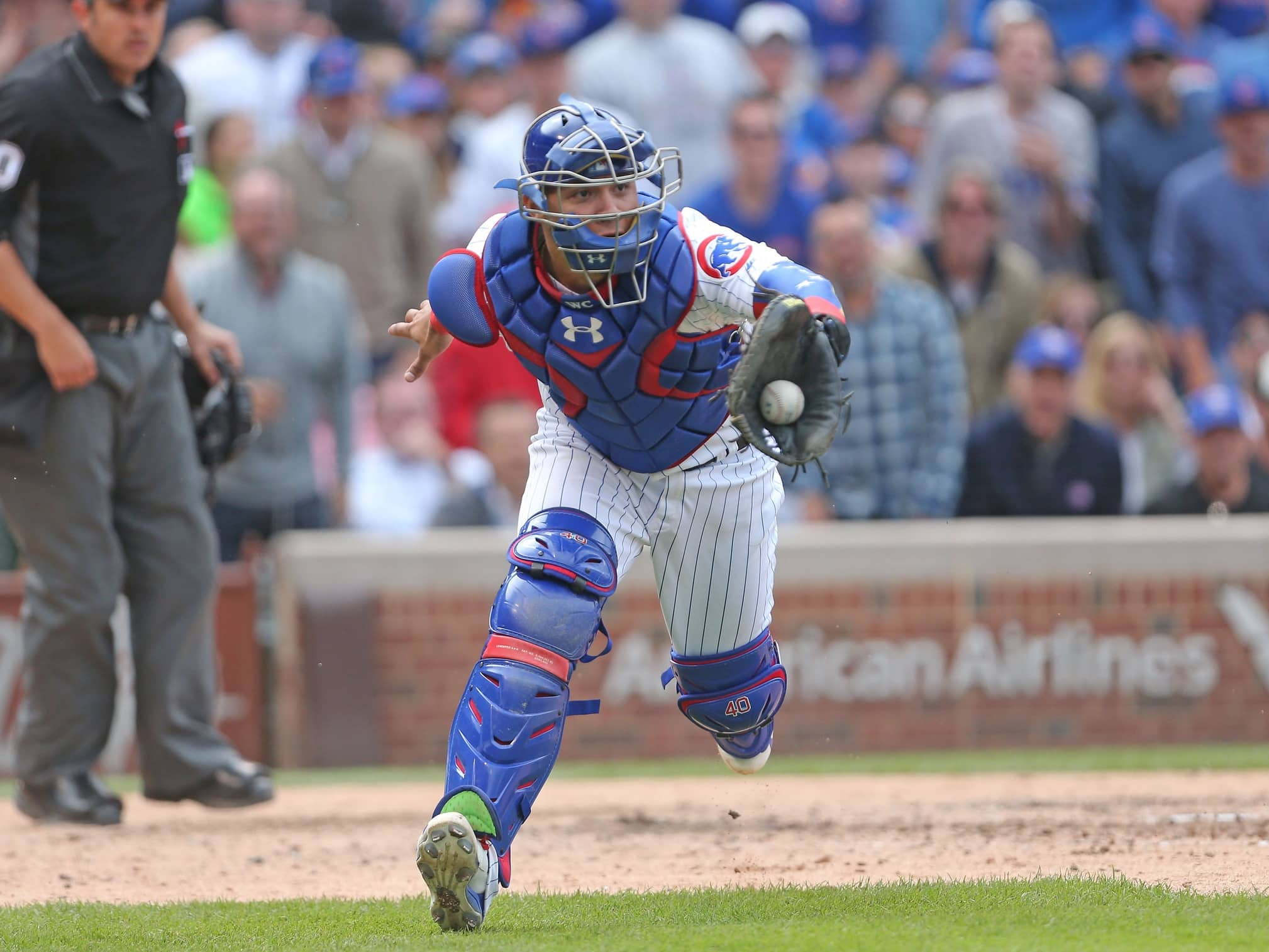 Chicago Cubs catcher Willson Contreras exited Wednesday's game with a hamstring injury.
