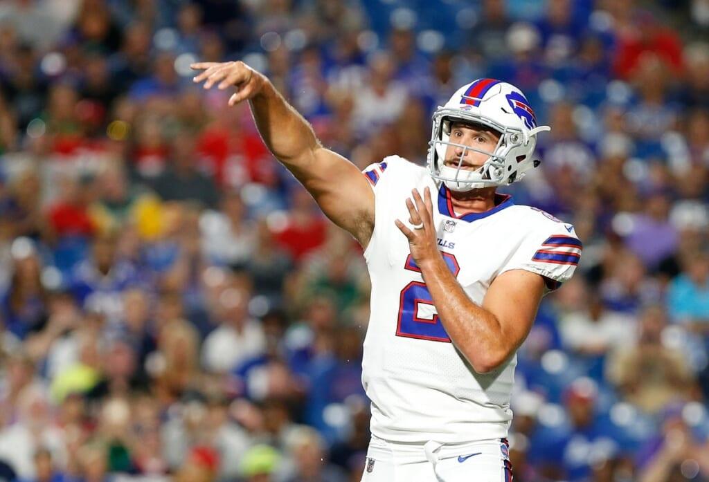 Buffalo Bills quarterback Nathan Peterman in NFL preseason Week 1