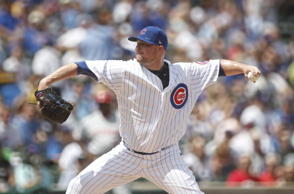 Chicago Cubs pitcher Jon Lester
