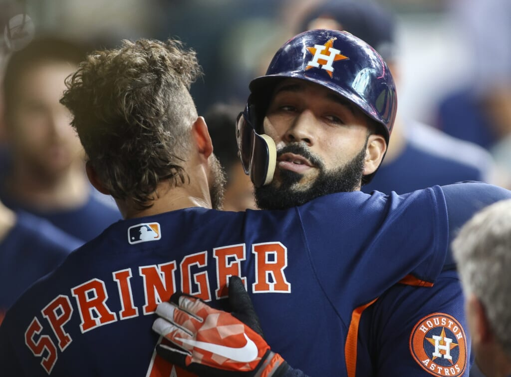 The Astros' Marwin Gonzalez is one reason the team is dominating this season.