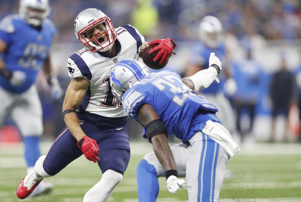 Patriots receiver Julian Edelman suffered a devastating knee injury.
