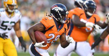 Denver Broncos running back Jamaal Charles during NFL preseason Week 3