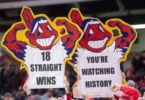 Cleveland Indians 18 game winning streak
