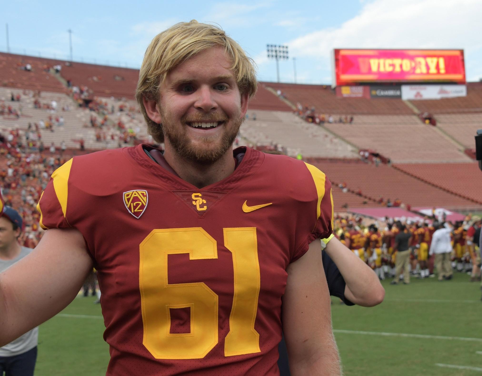 USC long-snapper Jake Olson