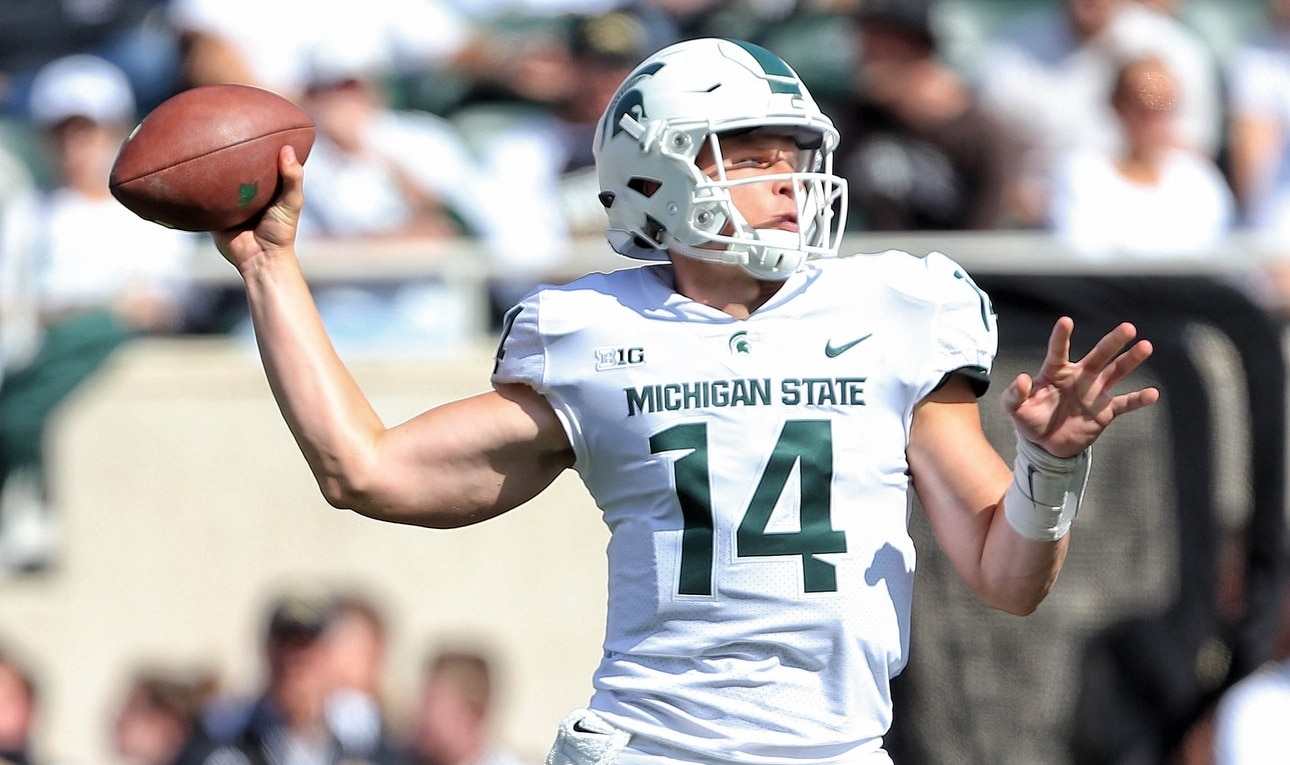 Brian Lewerke benched for Rocky Lombardi against Ohio State
