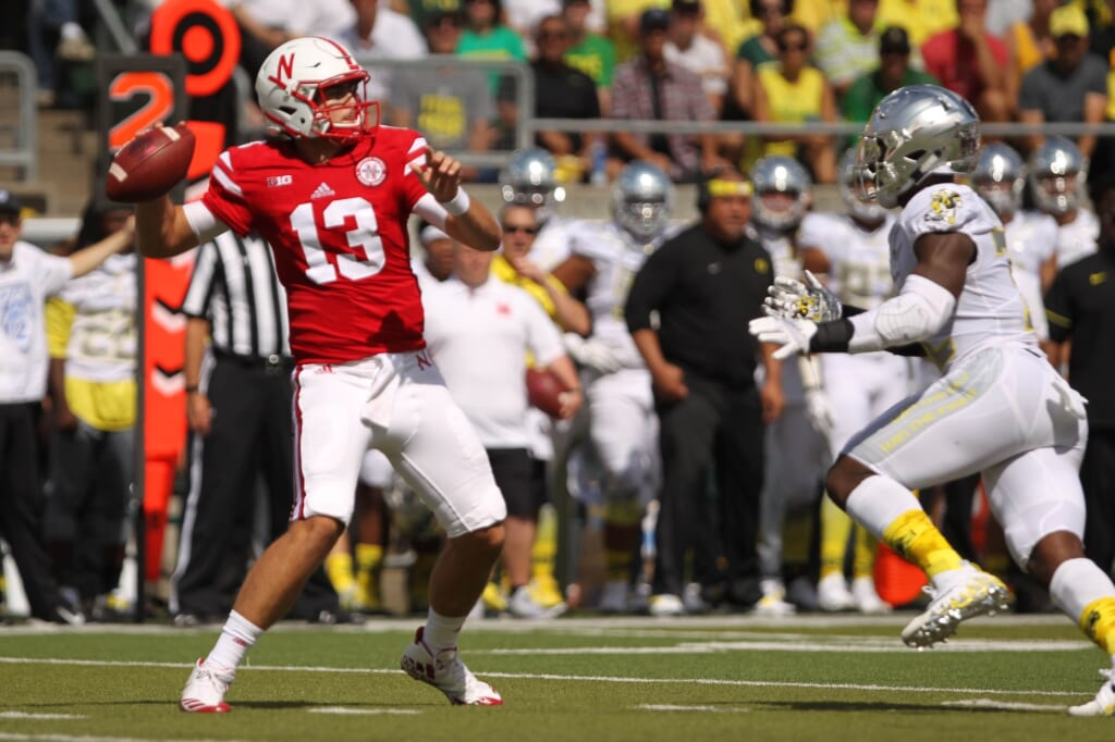 Nebraska quarterback Tanner Lee