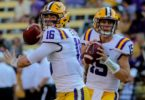 LSU quarterbacks Danny Etling and Myles Brennan
