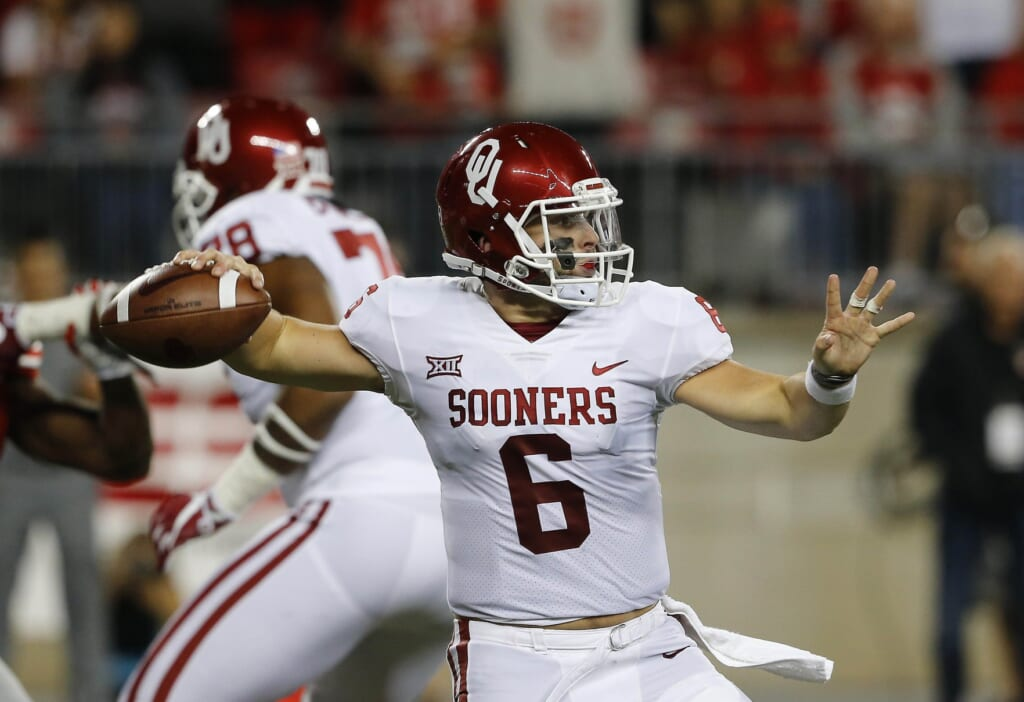Oklahoma Sooners quarterback Baker Mayfield in college football Week 2