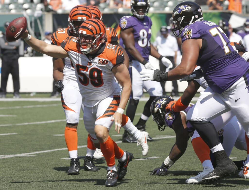 Look for Bengals' Nick Vigil to have a big Week 2 game.