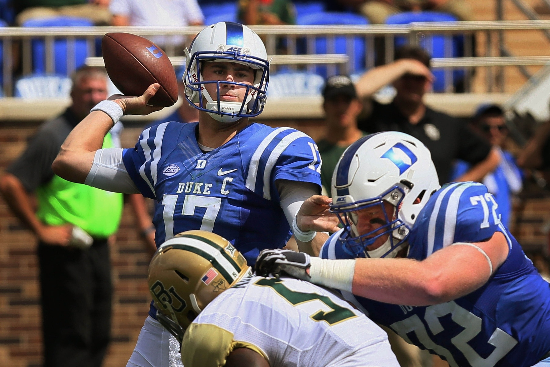 Duke Blue Devils quarterback Daniel Jones