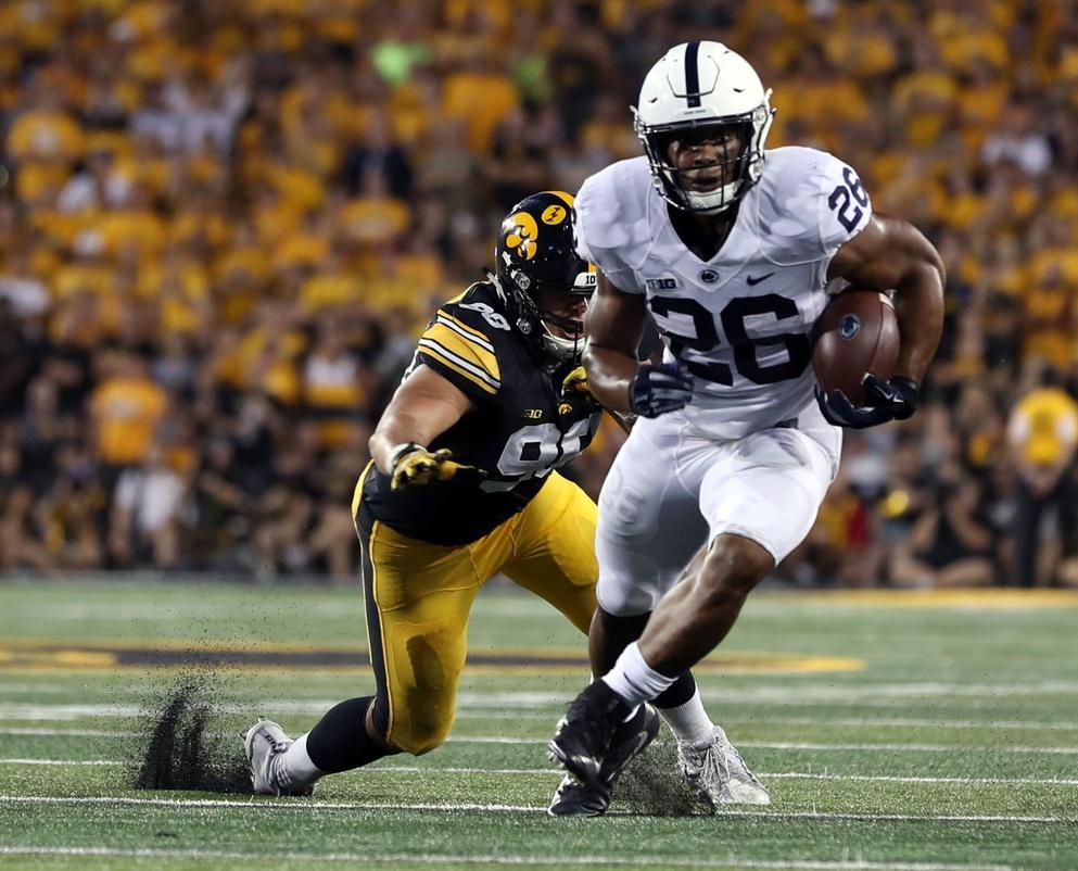 Penn State running back Saquon Barkley against Iowa in college football Week 4