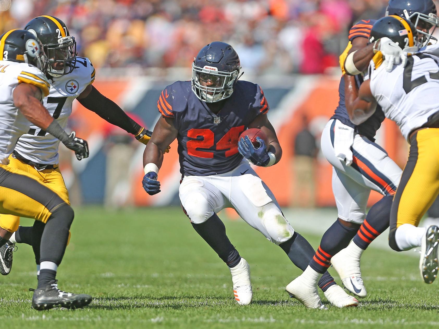 Chicago Bears running back Jordan Howard against Pittsburgh Steelers in NFL Week 3