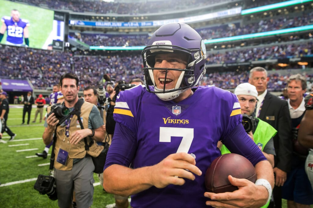 Minnesota Vikings quarterback Case Keenum Monday Night Football