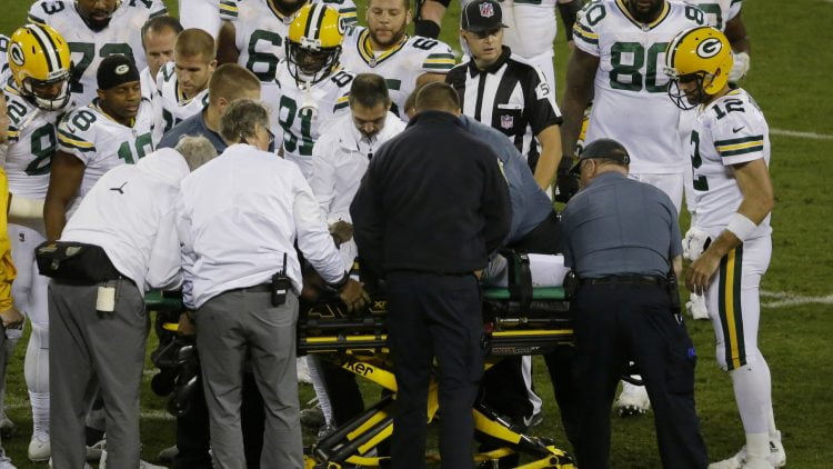 Danny Trevathan was not ejected for his illegal hit on Davante Adams, but he should have been