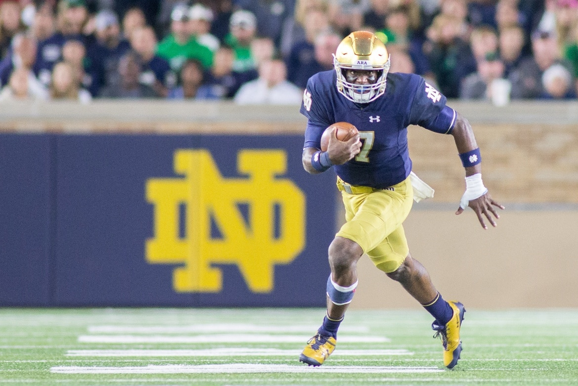 Notre Dame quarterback Brandon Wimbush is leading one of the top teams in college football