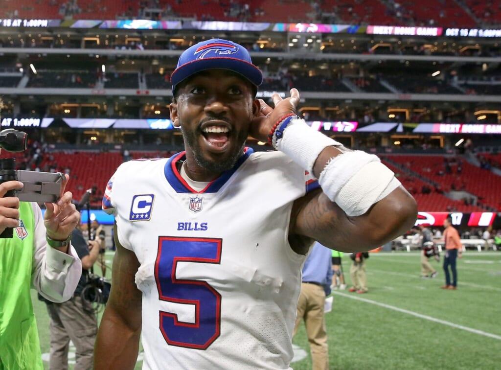 Buffalo Bills quarterback Tyrod Taylor in NFL Week 4