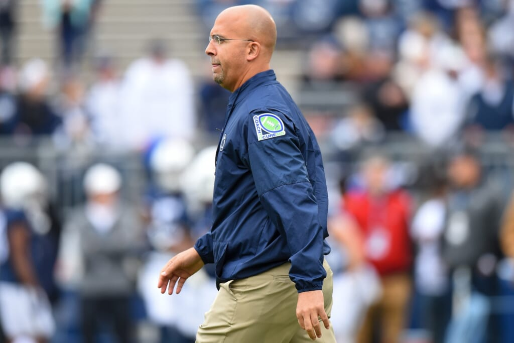 Penn State head coach James Franklln