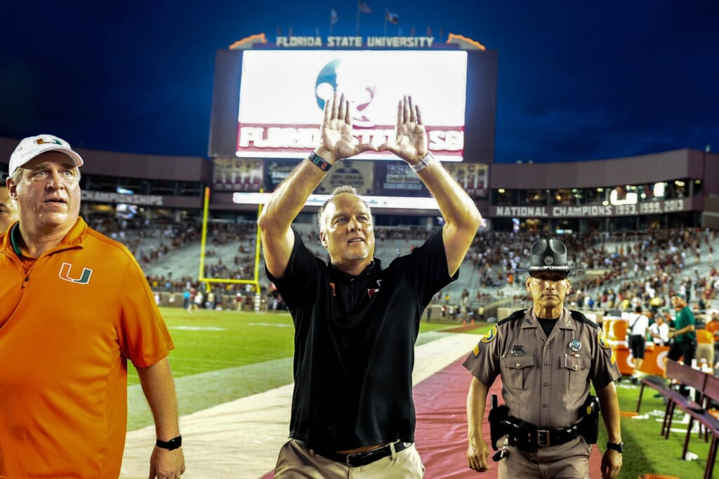 Miami Hurricanes head coach Mark Richt college football Week 11
