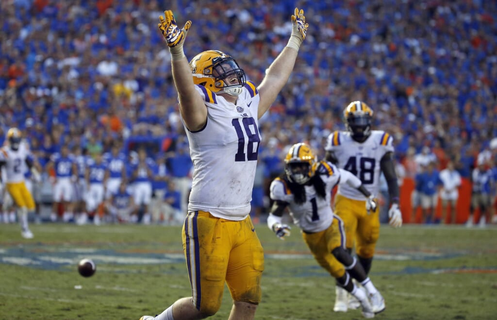 LSU defensive end Christian LaCouture