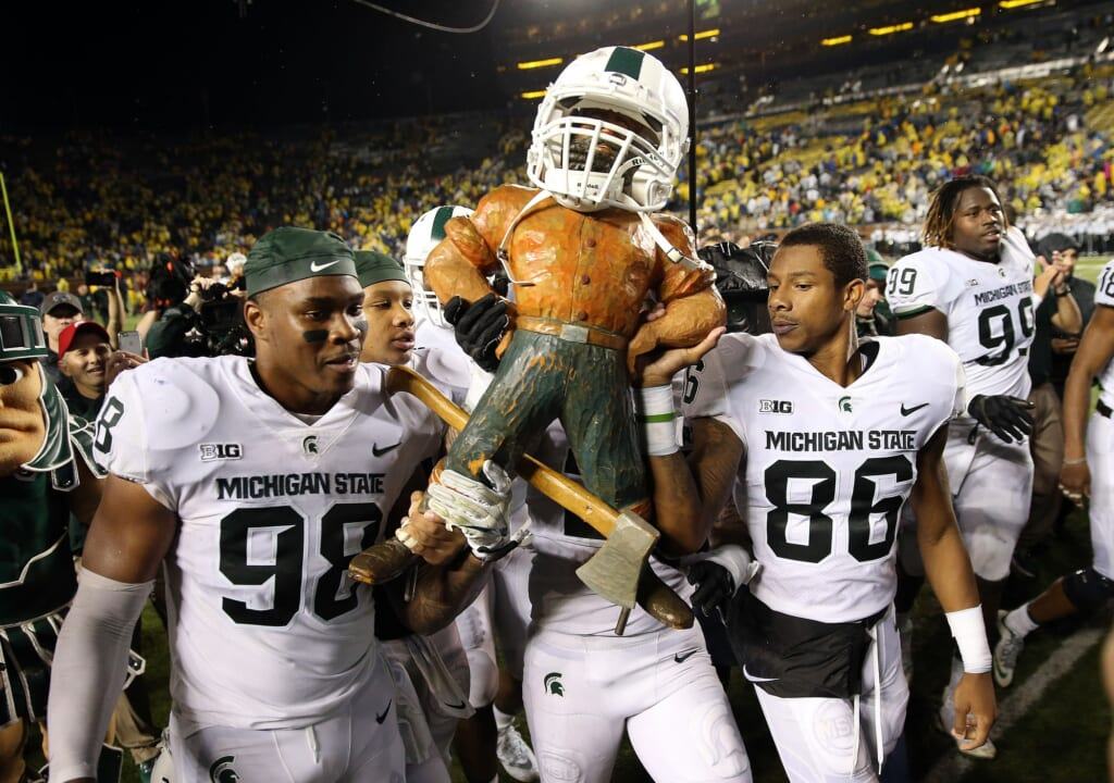 Michigan State Spartans after beating Michigan in college football Week 6