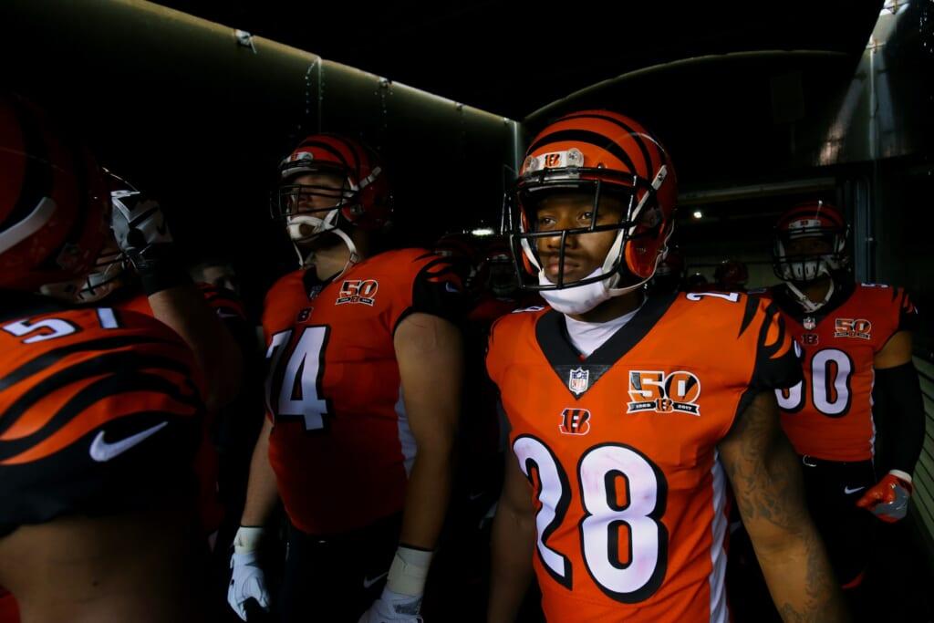 Cincinnati Bengals running back Joe Mixon in NFL Week 7