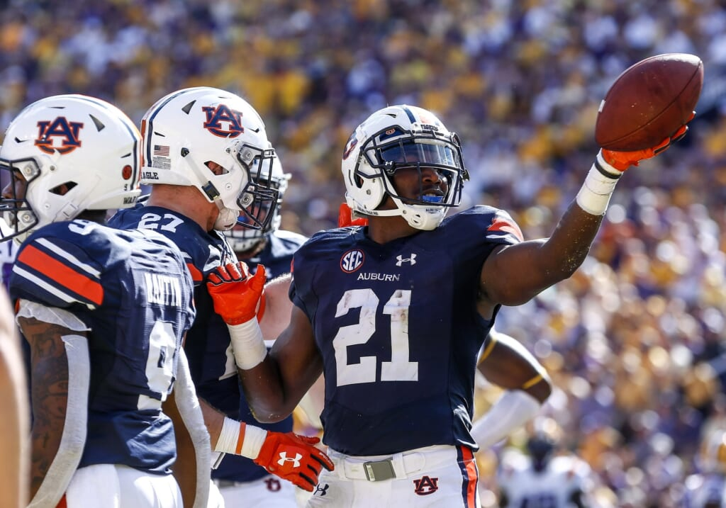 Auburn running back Kerryon Johnson