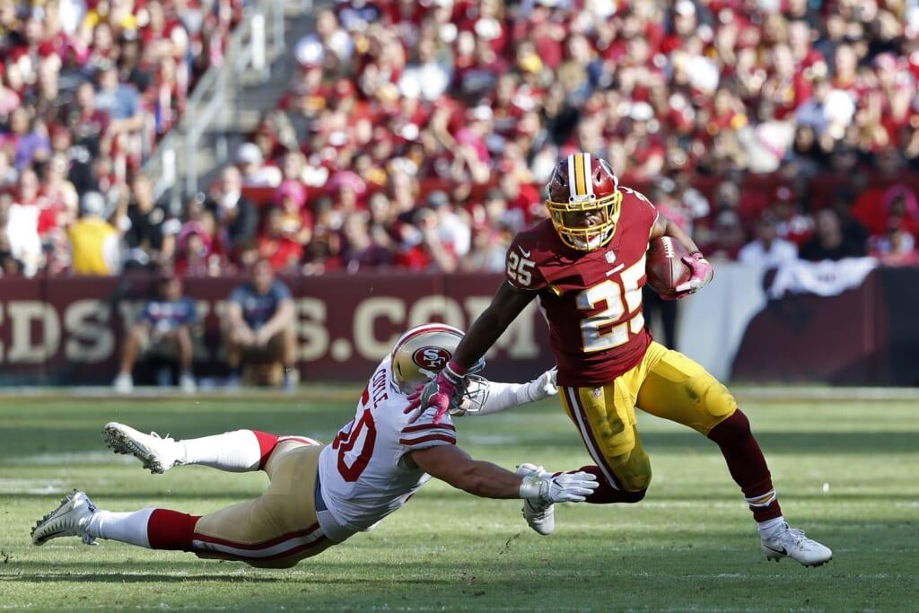 Washington Redskins running back Chris Thompson