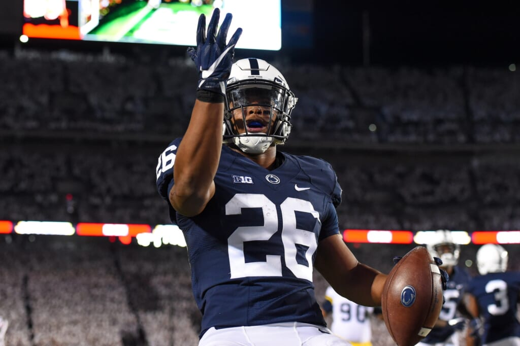 Penn State running back Saquon Barkley in college football Week 8